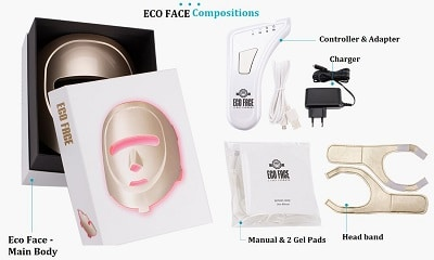 eco face red light therapy face mask