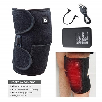 knee brace with infrared heat