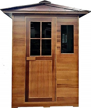 3 person weather resistant outdoor infrared sauna