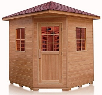 western pacific 4 person outdoor infrared sauna