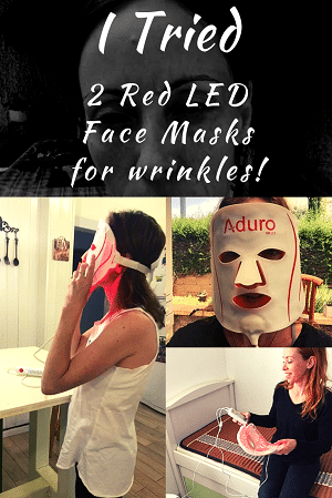 led red facial before and after