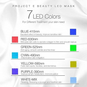 7 color led mask facial treatment