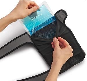 Sunbeam knee wrap with freezable gel pack