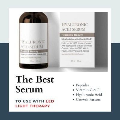 best serum to use with LED light therapy