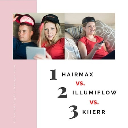 hairmax vs illumiflow vs kiierr laser caps reviews comparison